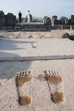 The mark of the Anunnaki? Meet the GIANT footprints of Ain Dara - RiseEarth